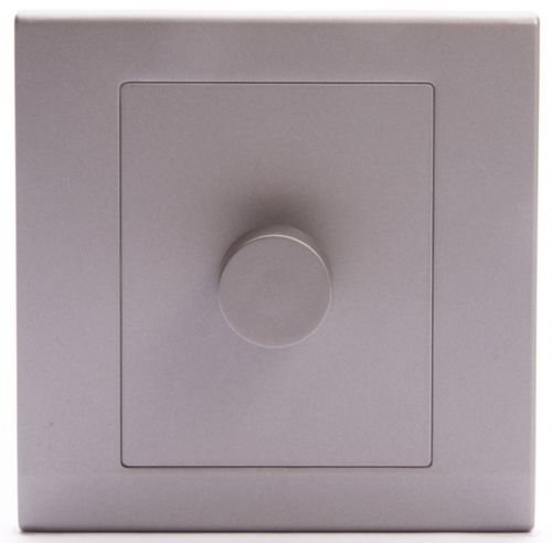 Simplicity Grey Screwless Rotary 1 Gang LED Dimmer Light Switch 07253
